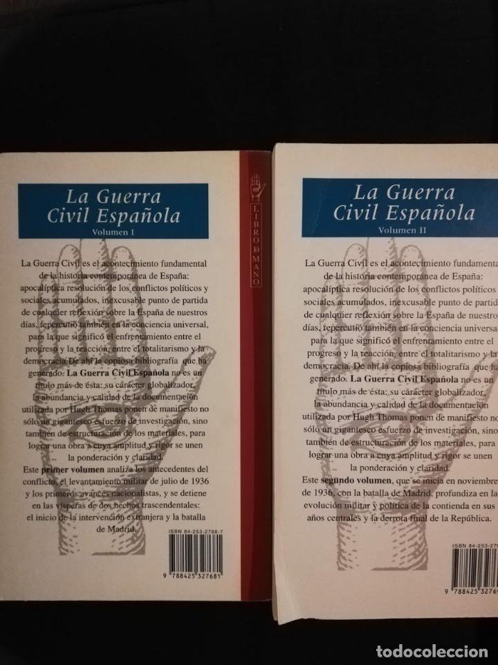 Libros de segunda mano: LA GUERRA CIVIL ESPAÑOLA - HUGH THOMAS. VOL I y II. GRIJALBO - Foto 2 - 211515537