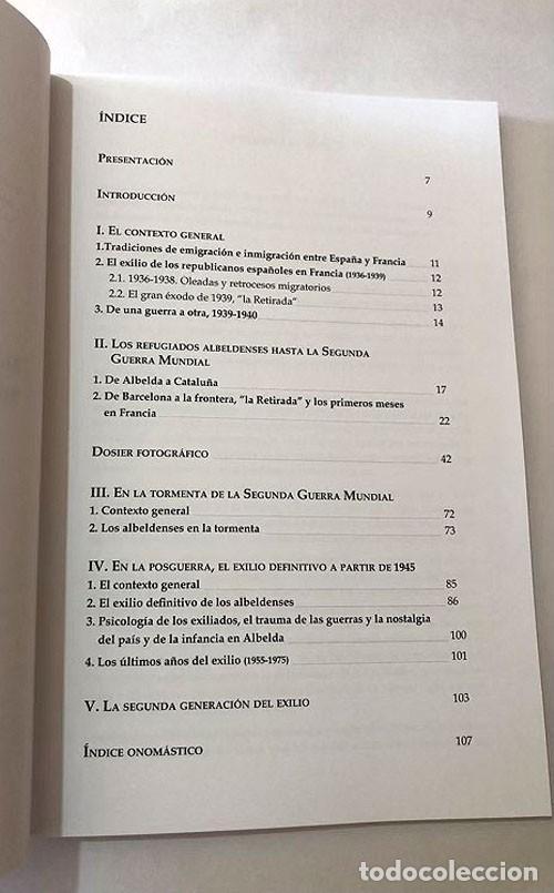Libros de segunda mano: EL EXILIO ALBELDENSE EN FRANCIA / ELISEO TRENC BALLESTER / ALBELDA / TAMARITE DE LITERA / HUESCA - Foto 2 - 213753766