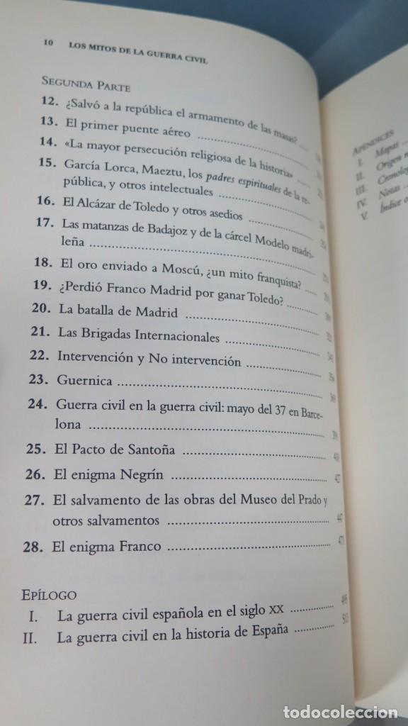 Libros de segunda mano: LOS MITOS DE LA GUERRA CIVIL. PÍO MOA - Foto 3 - 213754848