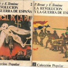 Libros de segunda mano: LA REVOLUCIÓN Y LA GUERRA DE ESPAÑA. COMPLETA, LOS DOS TOMOS. Lote 213944038