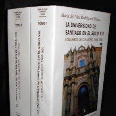 Libros de segunda mano: LA UNIVERSIDAD DE SANTIAGO EN EL SIGLO XVI. LOS LIBROS DE CLAUSTRO 1566-1600. COMPLETO 2 T. GALICIA.. Lote 215948852