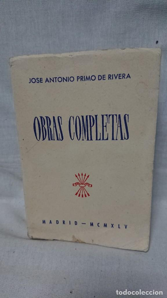 OBRAS COMPLETAS JOSÉ ANTONIO PRIMO DE RIVERA AÑO 1945 (Libros de Segunda Mano - Historia - Guerra Civil Española)