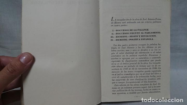 Libros de segunda mano: OBRAS COMPLETAS JOSÉ ANTONIO PRIMO DE RIVERA AÑO 1945 - Foto 4 - 216917125