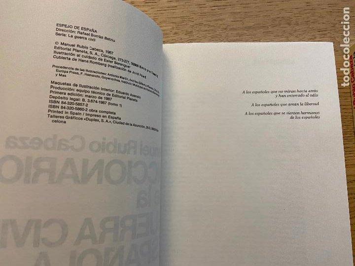 Libros de segunda mano: DICCIONARIO DE LA GUERRA CIVIL ESPAÑOLA 1 Y 2 - MANUEL RUBIO CABEZA EDITORIAL PLANETA - Foto 2 - 217143712