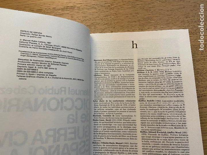 Libros de segunda mano: DICCIONARIO DE LA GUERRA CIVIL ESPAÑOLA 1 Y 2 - MANUEL RUBIO CABEZA EDITORIAL PLANETA - Foto 5 - 217143712