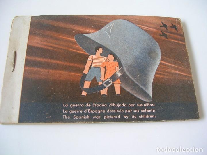 LA GUERRA DE ESPAÑA DIBUJADA POR SUS NIÑOS. MUY RARO (Libros de Segunda Mano - Historia - Guerra Civil Española)