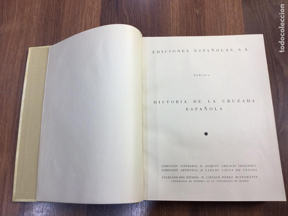 Libros de segunda mano: HISTORIA DE LA CRUZADA ESPAÑOLA - 7 VOLÚMENES - EDICIONES ESPAÑOLAS - 1940 - Foto 5 - 217936478