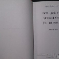 Libros de segunda mano: POR QUÉ FUI SECRETARIO DE DURRUTI-MOSÉN JESÚS ARNAL-EDICIONES MIRADOR DEL PIRINEU-ANDORRA-1972. Lote 218322618