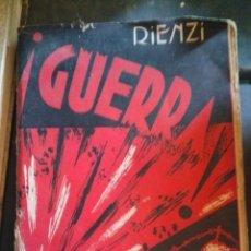 Libros de segunda mano: LIBRO GUERRA CIVIL ESPAÑOLA GUERRA RIENZI. Lote 218402343