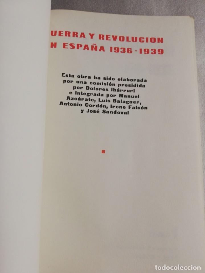 Libros de segunda mano: GUERRA Y REVOLUCION EN ESPAÑA 1936 - 1939 - Foto 3 - 219026490