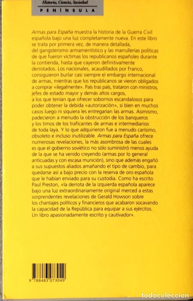 Libros de segunda mano: Armas para España. Gerald Howson. - Foto 2 - 219324335