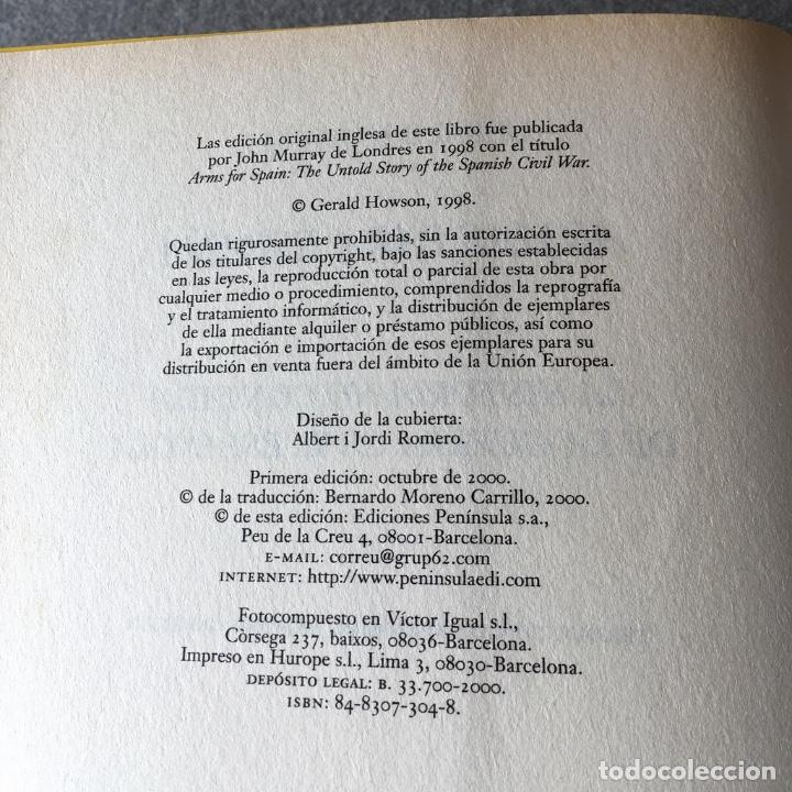 Libros de segunda mano: Armas para España. Gerald Howson. - Foto 7 - 219324335
