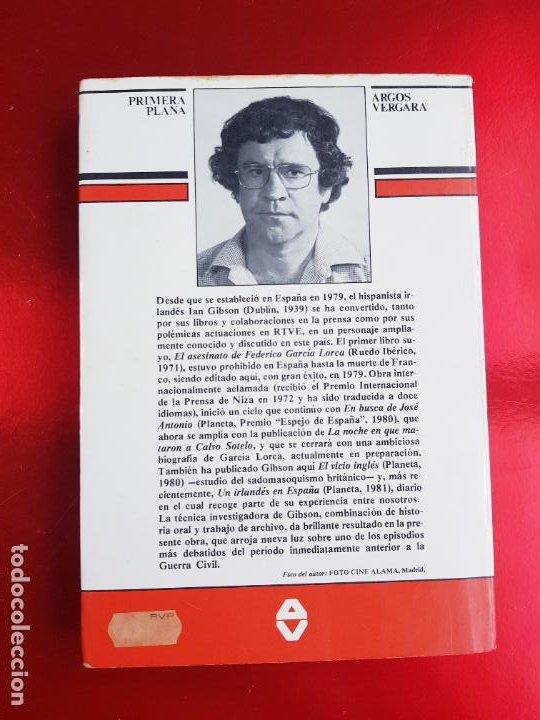 Libros de segunda mano: LIBRO-LA NOCHE QUE MATARON A CALVO SOTELO-IAN GIBSON-ARGOS VERGARA-5ªEDICIÓN-1982 - Foto 4 - 220953440