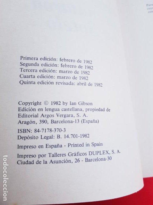 Libros de segunda mano: LIBRO-LA NOCHE QUE MATARON A CALVO SOTELO-IAN GIBSON-ARGOS VERGARA-5ªEDICIÓN-1982 - Foto 7 - 220953440