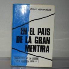 Libros de segunda mano: PAÍS DE LA GRAN MENTIRA. Lote 221820485