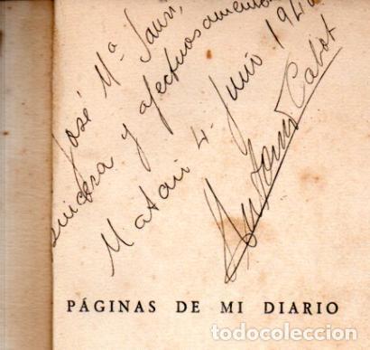 Libros de segunda mano: ANTONIO CABOT ANGLÉS . PÁGINAS DE MI DIARIO 1936-1939 (SANTIAGO DE CHILE, 1939) CON AUTÓGRAFO - Foto 2 - 222639270
