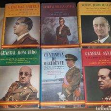 Libros de segunda mano: LOTE LA EPOPEYA Y SUS HÉROES AHR FRANCO MOSCARDO SANJURJO QUEIPO DE LLANO MILLÁN VARELA. Lote 222787593