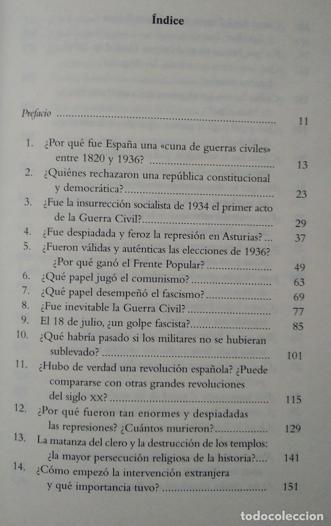 Libros de segunda mano: 40 PREGUNTAS FUNDAMENTALES SOBRE LA GUERRA CIVIL -- STANLEY G. PAYNE - Foto 3 - 222804980