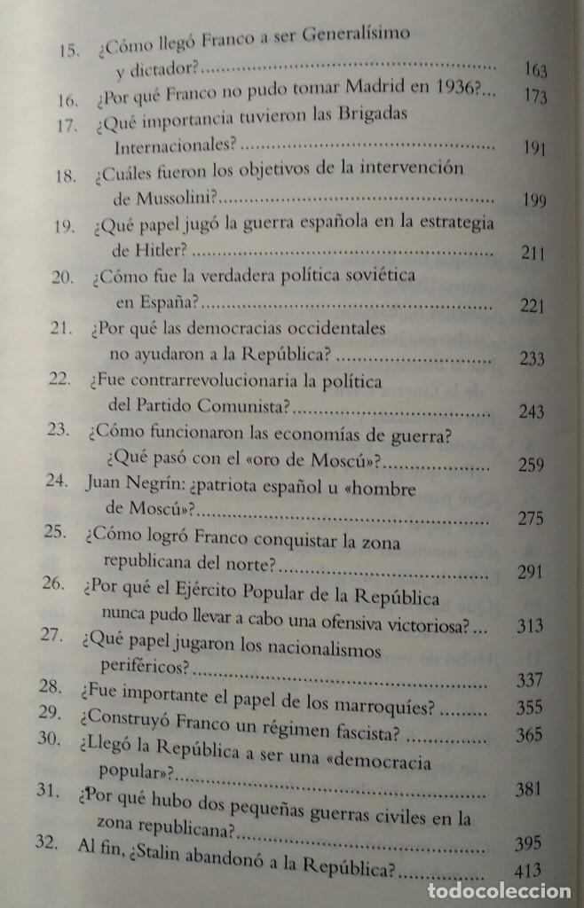Libros de segunda mano: 40 PREGUNTAS FUNDAMENTALES SOBRE LA GUERRA CIVIL -- STANLEY G. PAYNE - Foto 4 - 222804980