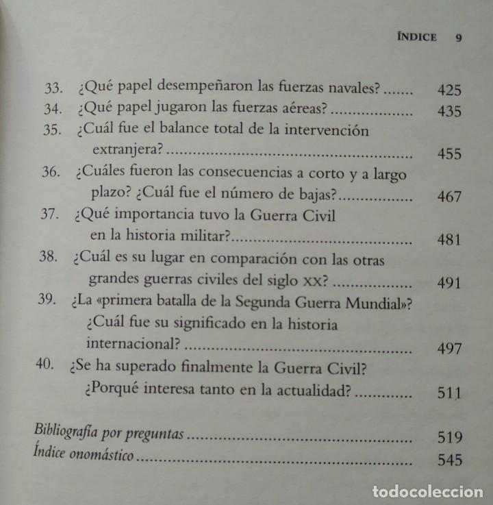 Libros de segunda mano: 40 PREGUNTAS FUNDAMENTALES SOBRE LA GUERRA CIVIL -- STANLEY G. PAYNE - Foto 5 - 222804980