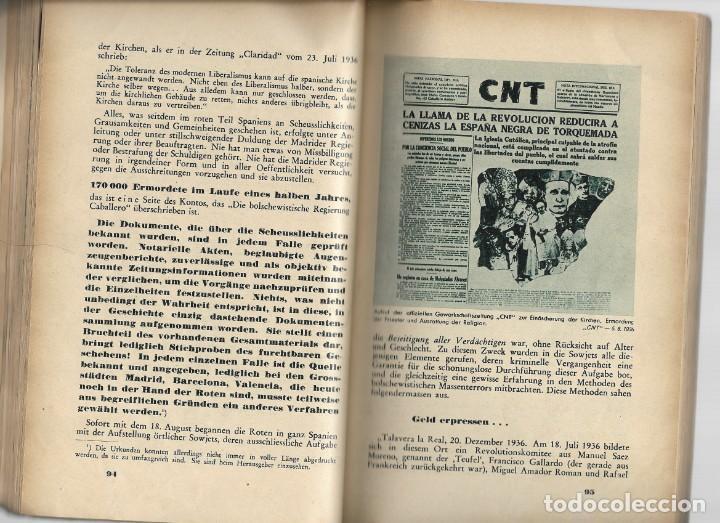Libros de segunda mano: Das Rotbuch uber spanien, Berlín 1937 (La España Roja) del Colegio Alemán de Málaga - Foto 5 - 208180436