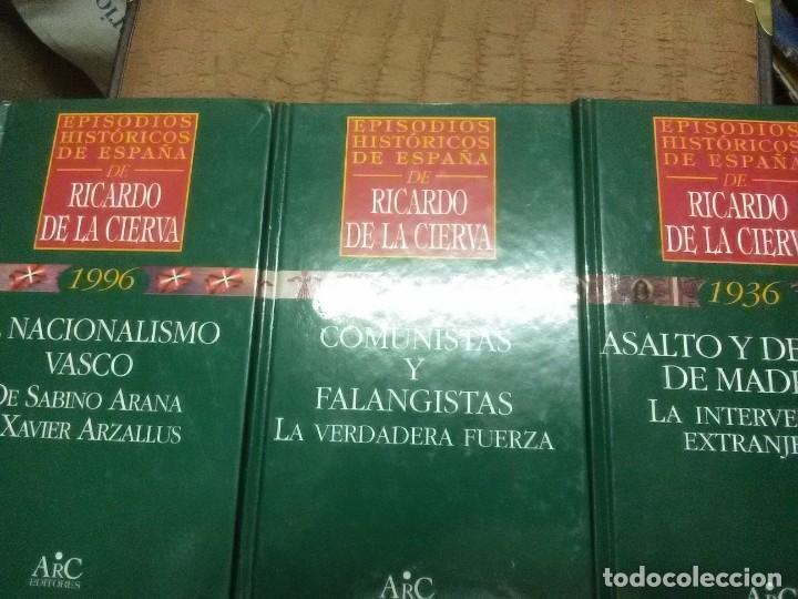 (LOTE DE 3). EPISODIOS HISTÓRICOS DE ESPAÑA DE RICARDO DE LA CIERVA. NN. 24, 29 Y 38. (Libros de Segunda Mano - Historia - Guerra Civil Española)