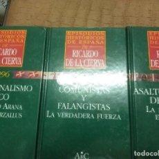 Libros de segunda mano: (LOTE DE 3). EPISODIOS HISTÓRICOS DE ESPAÑA DE RICARDO DE LA CIERVA. NN. 24, 29 Y 38.. Lote 89795432