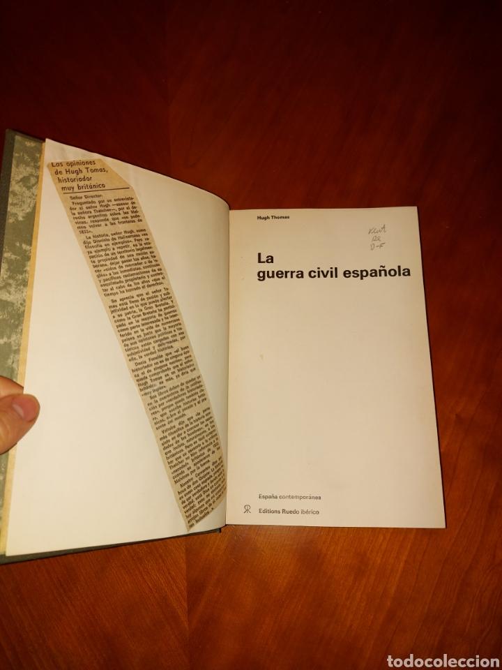 Libros de segunda mano: La Guerra Civil Española Hugh Thomas 1961 Ruedo Ibérico - Foto 3 - 233372895
