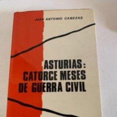 Libros de segunda mano: ASTURIAS: CATORCE MESES DE GUERRA CIVIL. Lote 234808570