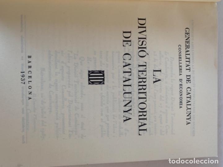 Libros de segunda mano: La divisió territorial de Catalunya - Foto 3 - 235224745