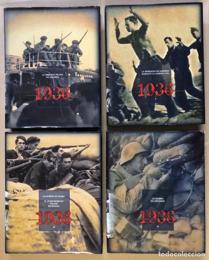 1936 GUERRA CIVIL EN EUSKAL HERRIA. ARALAR LIBURUAK 2000. TOMOS I, II, III Y IV. (Libros de Segunda Mano - Historia - Guerra Civil Española)
