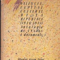 Livros em segunda mão: VALENCIA, CAPITAL CULTURAL DE LA REPÚBLICA - VV. AA.. Lote 235965920