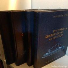 Libros de segunda mano: HISTORIA DE LA GUERRA NAVAL EN EUSKADI, 4 TOMOS, HISTORIA / HISTORY, 1984. Lote 240494105
