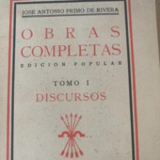 Libros de segunda mano: JOSÉ ANTONIO PRIMO DE RIVERA, OBRAS COMPLETAS (BOL,2). Lote 240609875