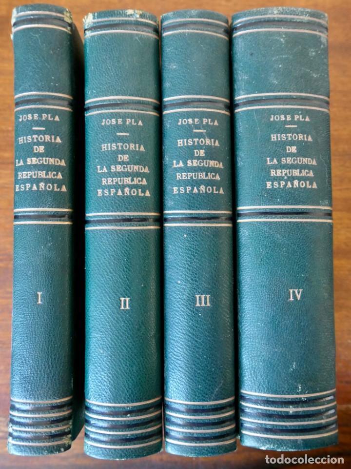 HISTORIA DE LA SEGUNDA REPÚBLICA ESPAÑOLA- JOSÉ PLA- DESTINO 1940- PRIMERA EDICIÓN - 4 TOMOS (Libros de Segunda Mano - Historia - Guerra Civil Española)