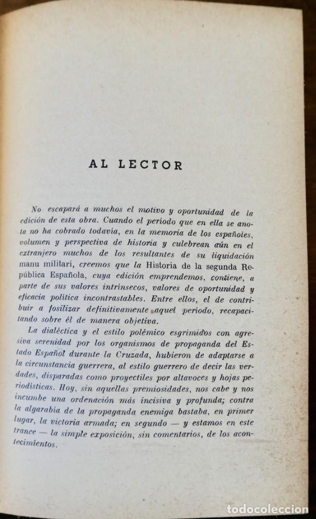 Libros de segunda mano: HISTORIA DE LA SEGUNDA REPÚBLICA ESPAÑOLA- JOSÉ PLA- DESTINO 1940- PRIMERA EDICIÓN - 4 TOMOS - Foto 5 - 243607095