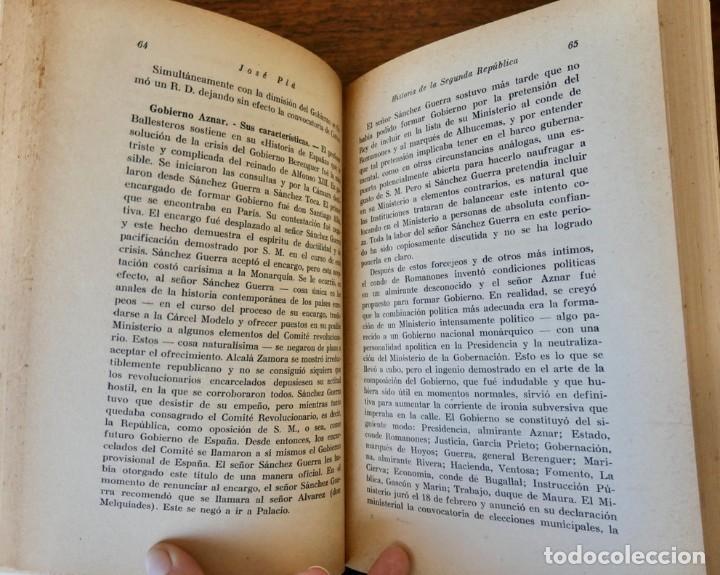 Libros de segunda mano: HISTORIA DE LA SEGUNDA REPÚBLICA ESPAÑOLA- JOSÉ PLA- DESTINO 1940- PRIMERA EDICIÓN - 4 TOMOS - Foto 6 - 243607095