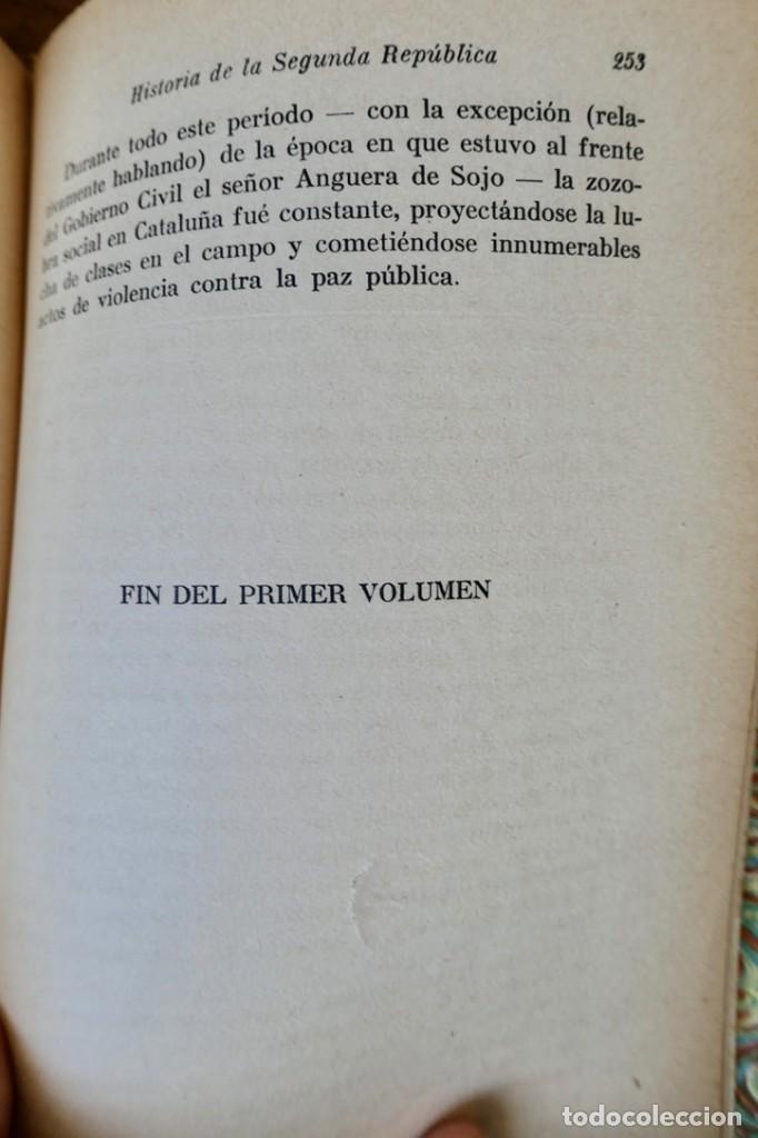 Libros de segunda mano: HISTORIA DE LA SEGUNDA REPÚBLICA ESPAÑOLA- JOSÉ PLA- DESTINO 1940- PRIMERA EDICIÓN - 4 TOMOS - Foto 8 - 243607095