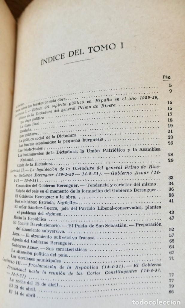 Libros de segunda mano: HISTORIA DE LA SEGUNDA REPÚBLICA ESPAÑOLA- JOSÉ PLA- DESTINO 1940- PRIMERA EDICIÓN - 4 TOMOS - Foto 9 - 243607095