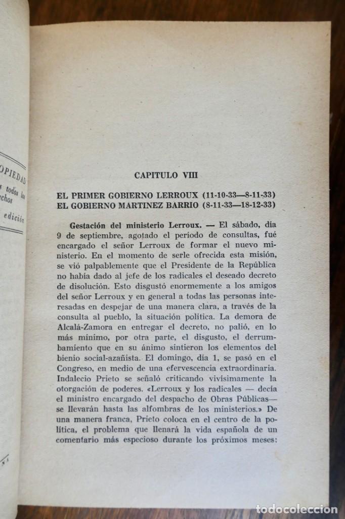 Libros de segunda mano: HISTORIA DE LA SEGUNDA REPÚBLICA ESPAÑOLA- JOSÉ PLA- DESTINO 1940- PRIMERA EDICIÓN - 4 TOMOS - Foto 21 - 243607095