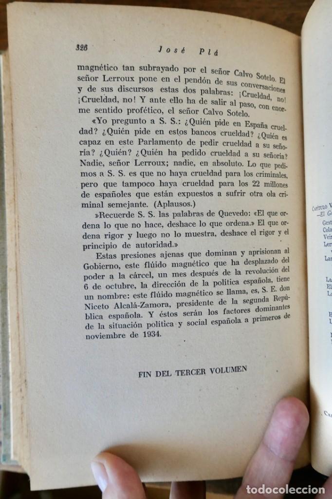 Libros de segunda mano: HISTORIA DE LA SEGUNDA REPÚBLICA ESPAÑOLA- JOSÉ PLA- DESTINO 1940- PRIMERA EDICIÓN - 4 TOMOS - Foto 23 - 243607095