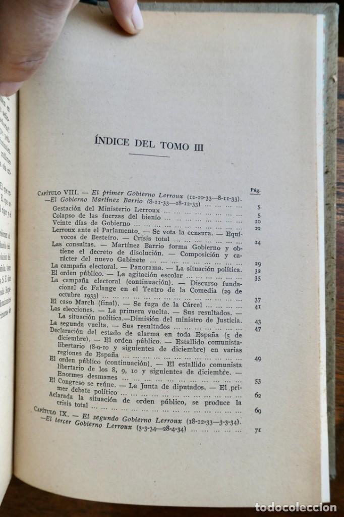 Libros de segunda mano: HISTORIA DE LA SEGUNDA REPÚBLICA ESPAÑOLA- JOSÉ PLA- DESTINO 1940- PRIMERA EDICIÓN - 4 TOMOS - Foto 24 - 243607095