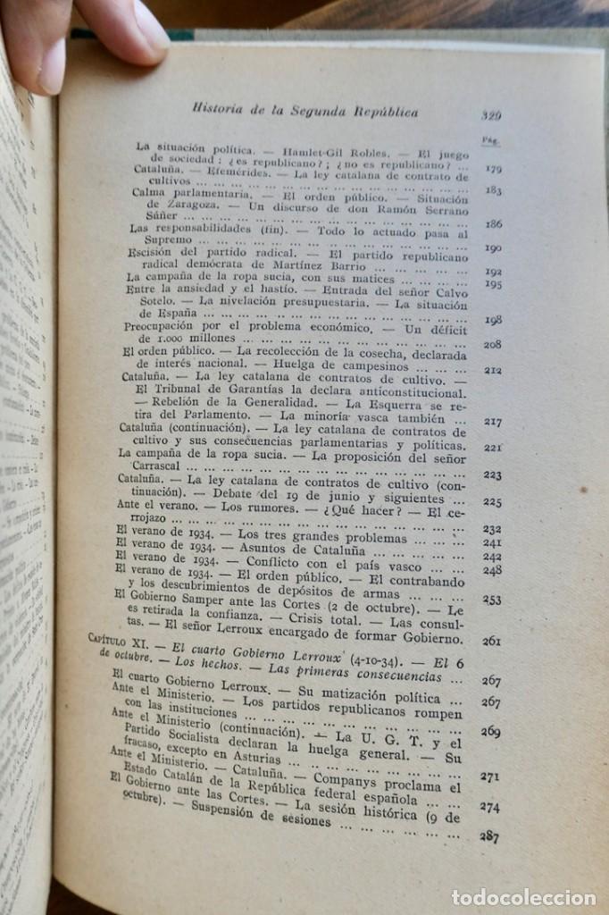 Libros de segunda mano: HISTORIA DE LA SEGUNDA REPÚBLICA ESPAÑOLA- JOSÉ PLA- DESTINO 1940- PRIMERA EDICIÓN - 4 TOMOS - Foto 26 - 243607095