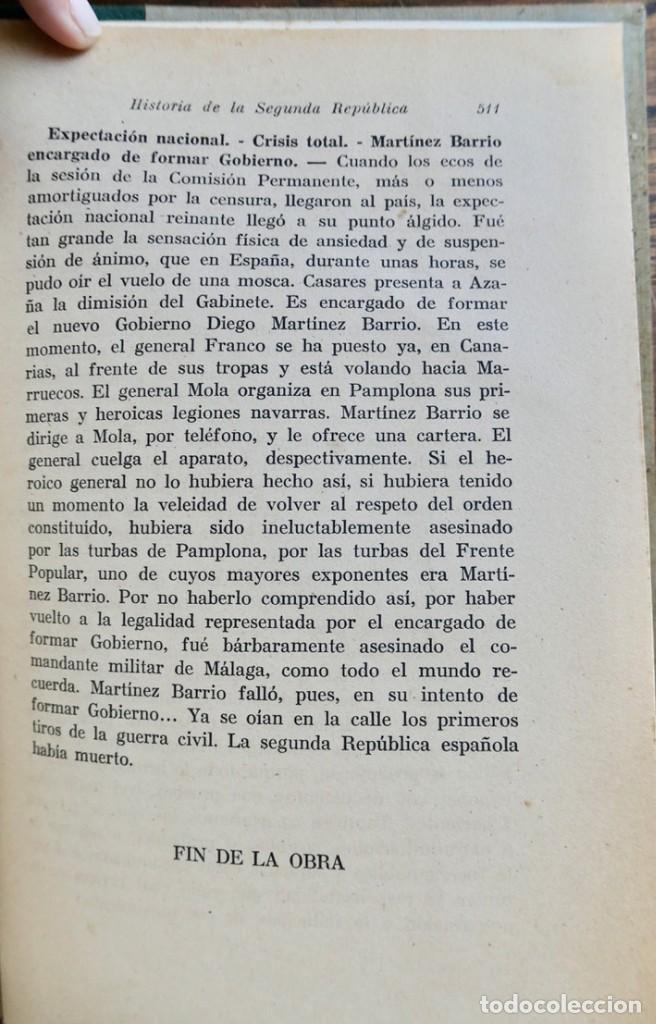 Libros de segunda mano: HISTORIA DE LA SEGUNDA REPÚBLICA ESPAÑOLA- JOSÉ PLA- DESTINO 1940- PRIMERA EDICIÓN - 4 TOMOS - Foto 31 - 243607095