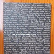Libros de segunda mano: TODOS (...) LOS NOMBRES. BASE DE DATOS SOBRE REPRESION FRANQUISTA EN ANDALUCIA.2007. Lote 243782185