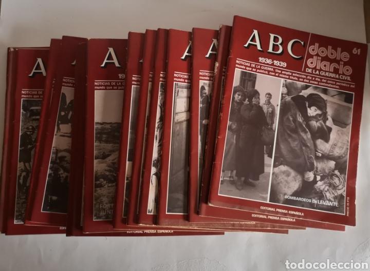 ABC 1936 - 1939 DOBLE DIARIO DE LA GUERRA CIVIL N° 61 - 70 AÑO 1978 (Libros de Segunda Mano - Historia - Guerra Civil Española)