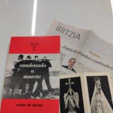Libri di seconda mano: DIARIO DE UN CONDENADO A MUERTE RAFAEL DE GARATE AXULAR 1974 GUERRA CIVIL GUDARI PNV EGI PAIS VASCO. Lote 245884750