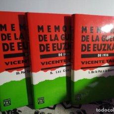 Libros de segunda mano: MEMORIA DE LA GUERRA DE EUSKADI DE 1936, VICENTE TALON. Lote 247778025