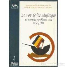 Livros em segunda mão: LA VOZ DE LOS NÁUFRAGOS: LA NARRATIVA REPUBLICANA ENTRE 1936 Y 1939 - MAÑÁ DELGADO, GEMMA. Lote 249146655