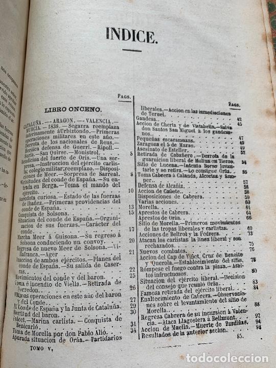 Libros de segunda mano: Historia de la Guerra Civil, liberal y carlista. 2a edicion. 1869. Indice fotografiado - Foto 4 - 253637530